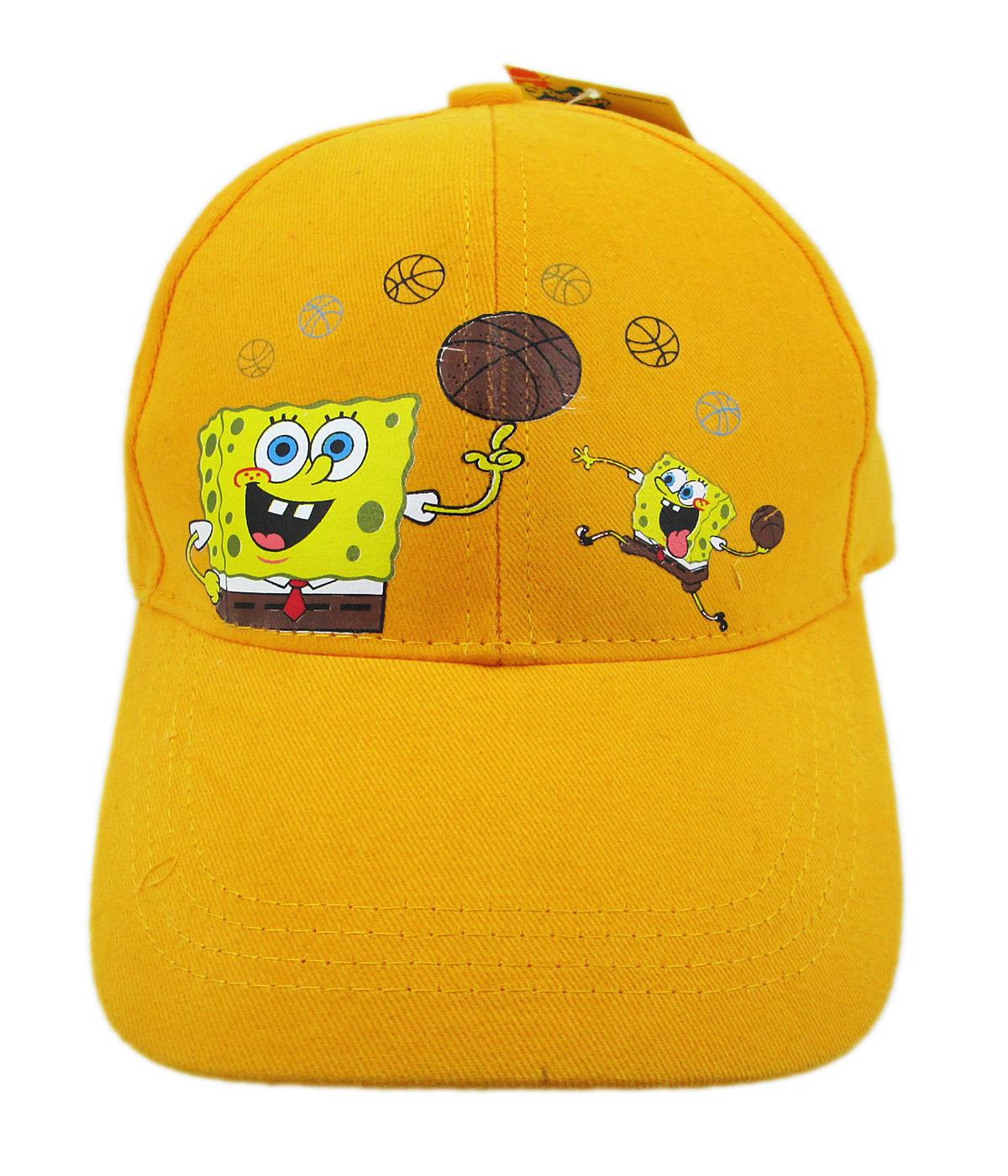 卡漫城海綿寶寶兒童帽子版Spongebob台灣製旅行校外教學遮陽帽棒球帽網球帽籃球