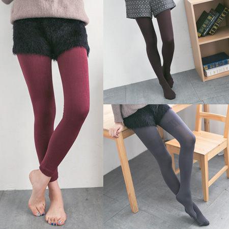 天鵝絨刷毛褲襪全長內搭褲九分褲打底褲長襪內搭褲連褲襪緊身保暖