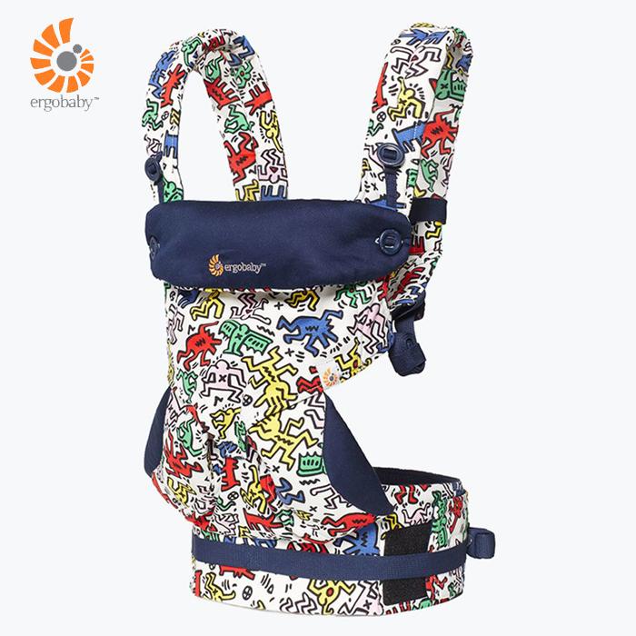 愛吾兒Ergobaby美國爾哥寶寶360四向背巾背帶揹巾-Keith Haring限量款彩色亞洲總代理公司貨