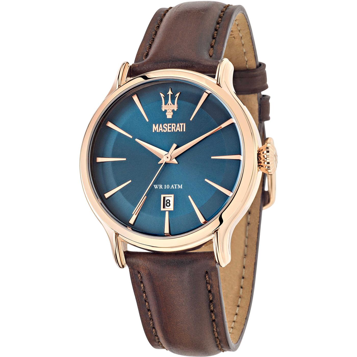 MASERATI WATCH-瑪莎拉蒂手錶-紳藍玫瑰金款R8851118001-錶現精品公司-原廠正貨-鏡面保固一年