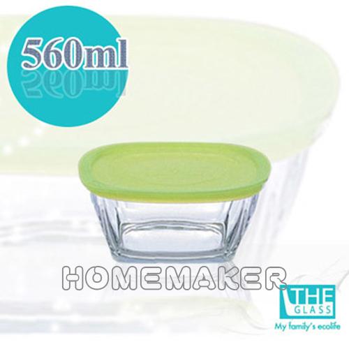 【THE GLASS】 綠蓋精緻保鮮盒1入(560ml)_TG-P736