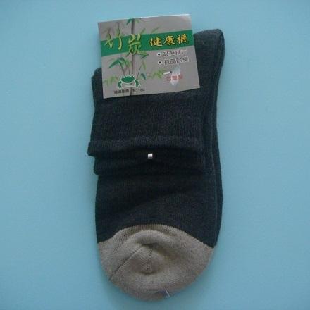 臺灣製 竹炭健康襪(鐵灰色)/運動襪/襪子/短襪/中統襪/學生襪/吸濕排汗.抗菌除臭