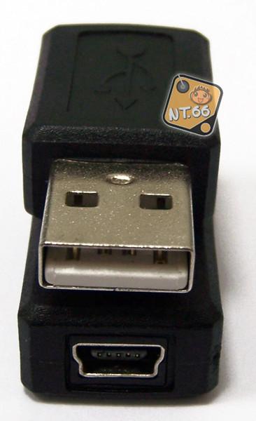 USB A公轉迷你5PIN 轉接頭(Mini 5P)母 (UB-199) (一入裝)