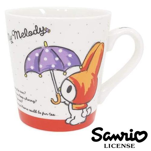 點點款日本進口正版三麗鷗美樂蒂握柄陶瓷馬克杯咖啡杯水杯杯子My Melody 406899