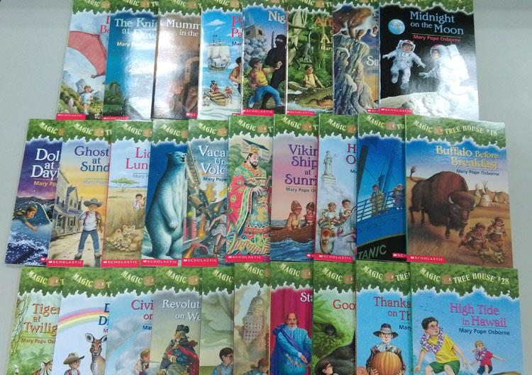 Magic Tree House神奇樹屋英文版第1-28集套書28本書CD