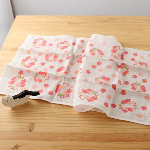 日本紗布巾和心傳梅園34*84 cm長毛巾二重紗布巾taoru日本毛巾