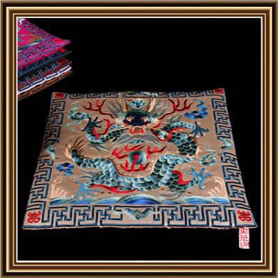中式明清仿古典椅座墊刺繡龍鳳圖案