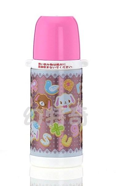 玩之內日本製焦糖兔甜點兔蜜糖邦妮點點粉色不鏽鋼保冷保溫水壺271704