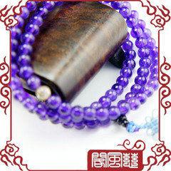 開光紫水晶108顆佛珠 5mm