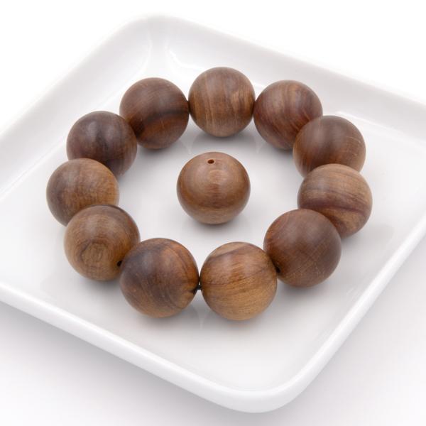 限量收藏 重油沉水肖楠手珠11 1粒20mm|肖楠原木佛珠 球形圓珠的念珠手串|僅只一條