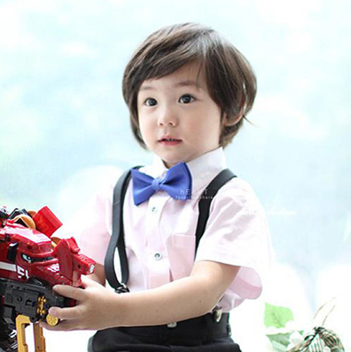 兒童復古純色蝴蝶領結 蝴蝶結 領結扣 紳士風