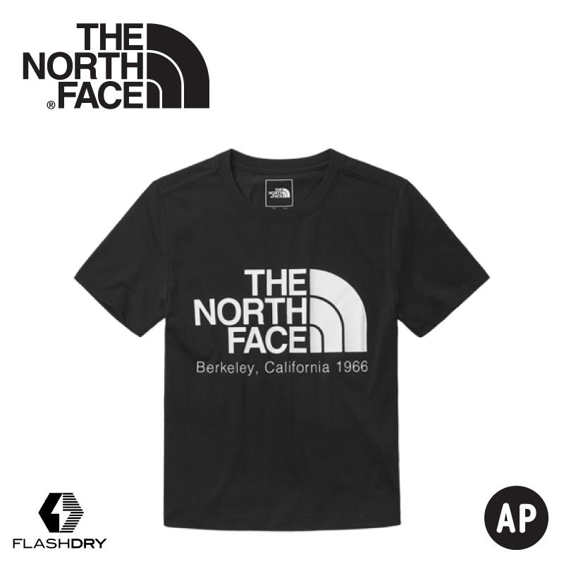 【The North Face 女 快乾LOGO 短T《黑》】46GF/棉T/t恤/短袖上衣/快乾短袖