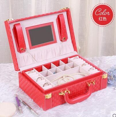 首飾盒木質公主歐式帶鎖韓國首飾收納盒批發絨布手飾盒飾品盒