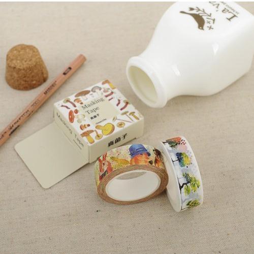 Mini style紙膠帶和紙膠帶卡通日記貼紙手賬裝飾動物植物人物貓咪食物書本羽毛蝴蝶