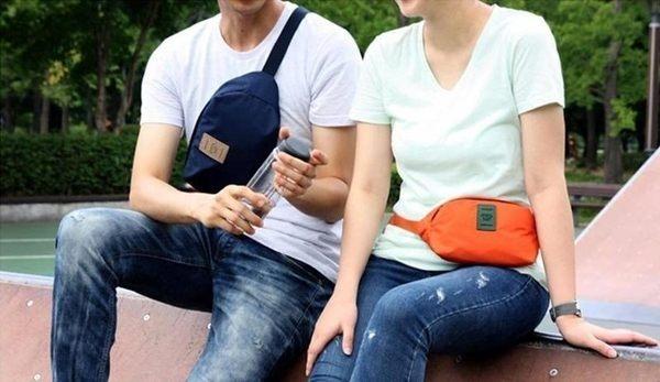 生活家精品Y35隨身小腰包休閒旅行包騎行包男女腰包胸前包斜背包旅行腰包腰包