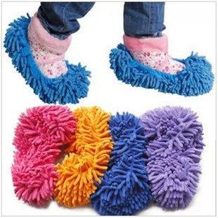 TwinS超細纖維雪尼爾擦地腳套懶人鞋套清潔鞋套【顏色隨機發貨】單個價