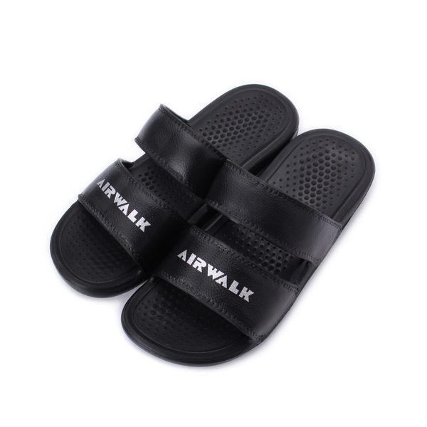 AIRWALK 雙橫帶一體套式拖鞋 黑 A925220220 男女同款 鞋全家福