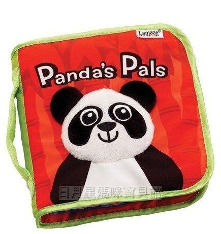 圓仔超夯寶寶第一本書貓熊立體響紙布書熊貓安全布書幼教益智玩具日月星媽咪寶貝館