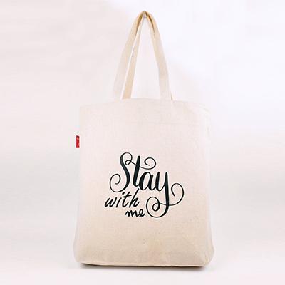 帆布袋 側背包 Stay with me 帆布包 手提包 手提袋 環保購物袋 文青帆布袋【mocodo 魔法豆】