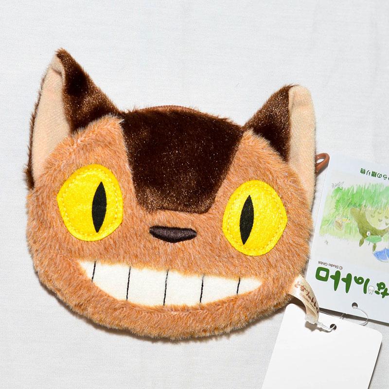 TOTORO 龍貓公車 零錢包 拉錬 毛絨絨的和動畫一樣 日本正版商品 宮崎駿