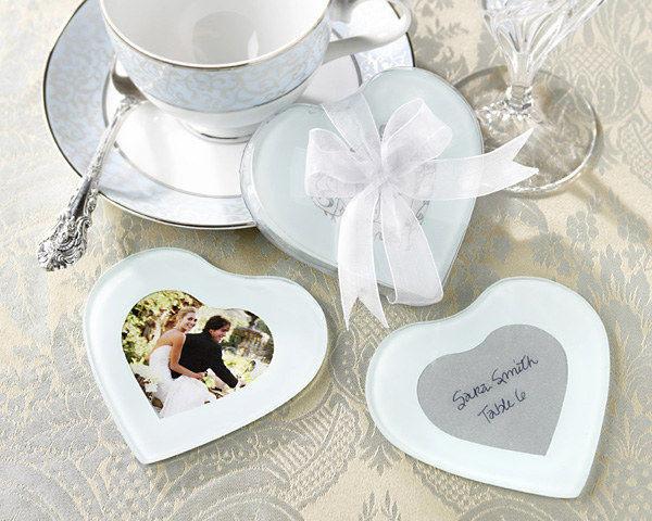 愛心相框杯墊 (兩入裝) 婚禮小物 送客小禮 婚禮佈置/組