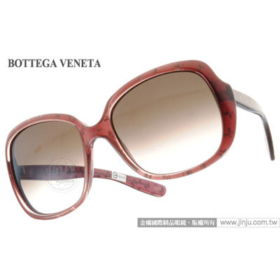 BOTTEGA VENETA太陽眼鏡BV156S UVD02葡紅蝶飛款墨鏡金橘眼鏡