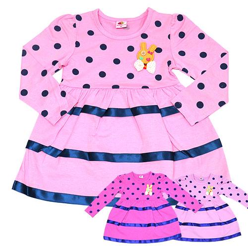 【錢豪童裝童鞋】小兔點點長袖洋裝(85~125cm)