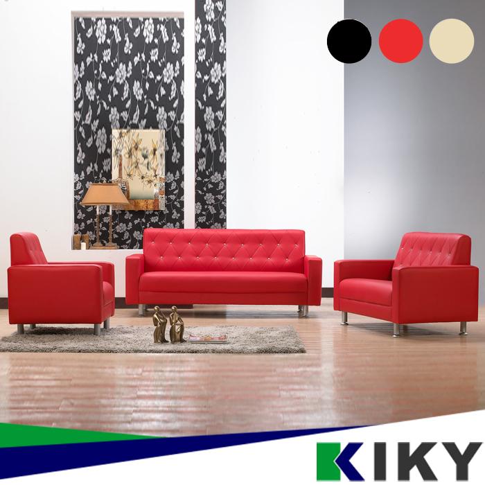 【KIKY】法式風華璀璨晶鑽 1 2 3皮沙發  設計師愛用款  門市可看黑色/乳白/紅色A~Crystal