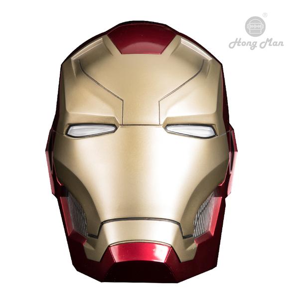 《名展影音》大男孩必備~漫威英雄系列 ☆╮鋼鐵人Mark46頭盔 1:1藍牙喇叭╭☆ 室內擺設超搶眼