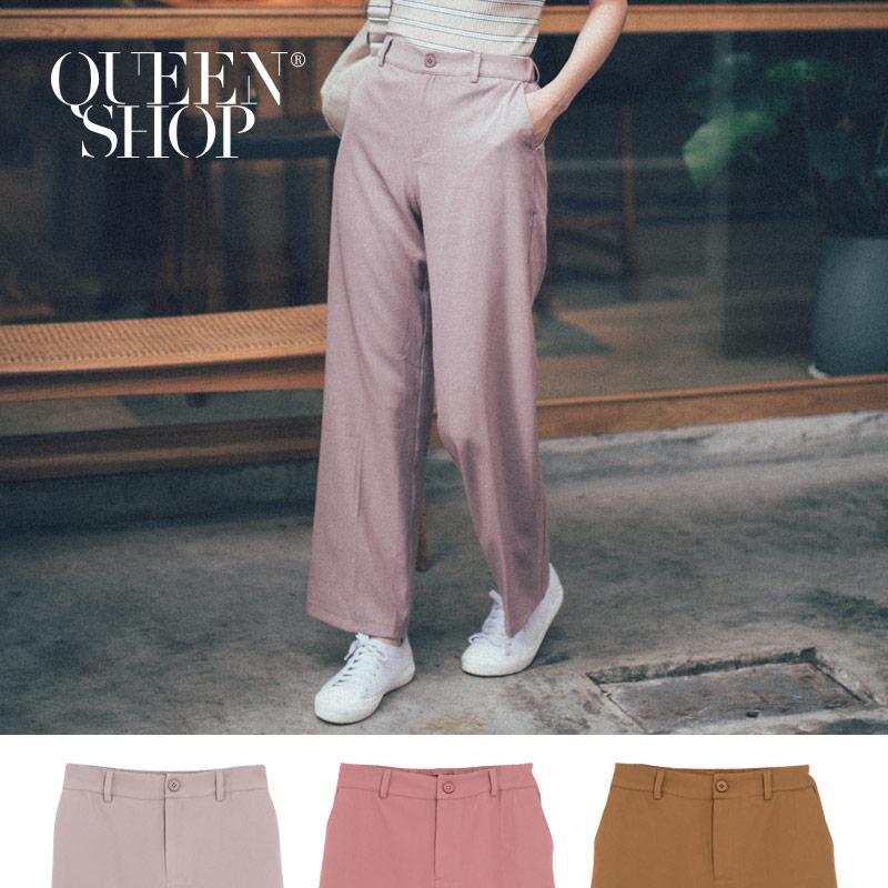 Queen Shop【04030241 】燙線直筒西裝長褲 三色售 S/M/L/XL*現+預*