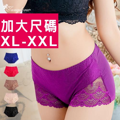 【 唐朵拉 】加大尺碼適穿XL-XXL氣質暗紋輕柔蕾絲專為豐滿姐妹設計伸縮性佳/女內褲(361)