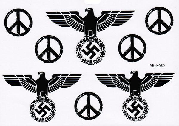 薇嘉雅     納粹勳章紋身貼紙 k-069