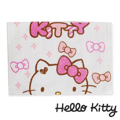 Sanrio三麗鷗Hello Kitty系列-藍衣凱蒂貓與蝴蝶結紗蘿童巾
