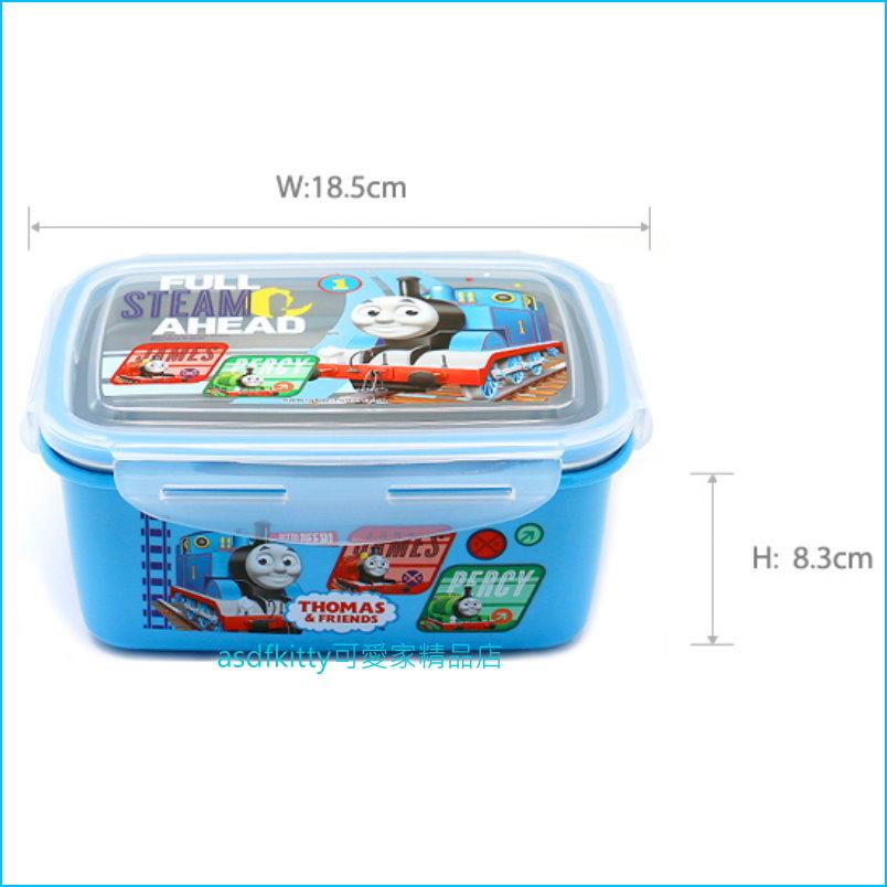 asdfkitty可愛家☆湯瑪士小火車 防燙304不鏽鋼方形便當盒1100ML-樂扣型-保鮮盒-韓國製