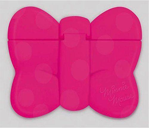 日本迪士尼Disney米妮蝴蝶結造型重覆黏貼濕紙巾專用盒蓋濕巾蓋-桃紅攜帶包專用