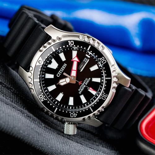 CITIZEN 星辰 NY0080-12E 悠遊歷險機械錶/黑 水鬼錶 自動上鍊 公司貨保固 熱賣中!