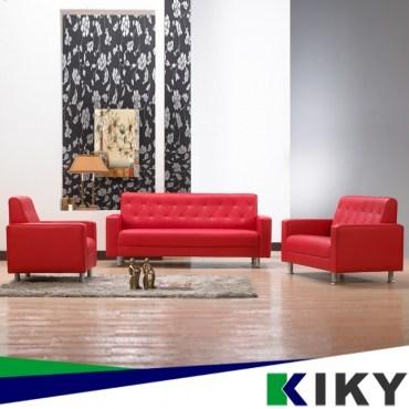 晶鑽風華1 2 3皮沙發組-紅色