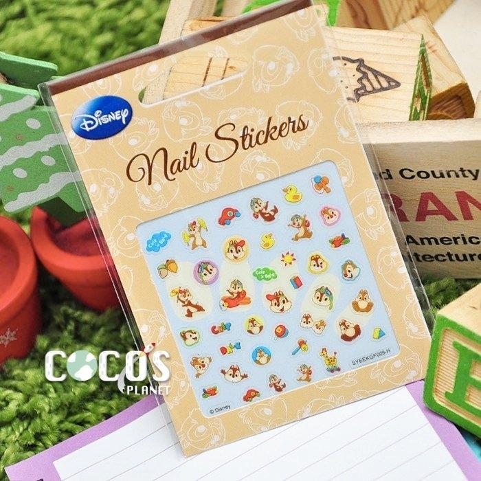 迪士尼指甲貼玩具奇蒂花栗鼠奇奇蒂蒂美甲貼指甲貼紙指甲貼彩繪貼紙COCOS PF033