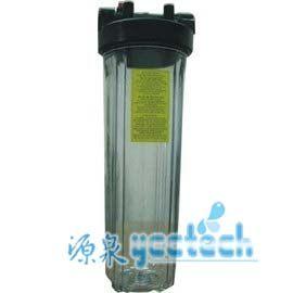 水塔過濾器淨化設備台製20英吋單道大胖濾殼(透明進出口徑:1英吋)