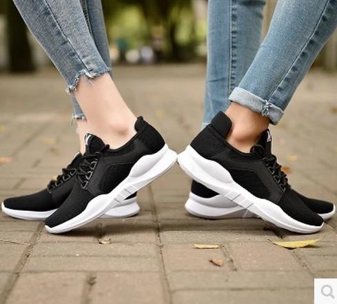 韓版飛織運動鞋男女情侶款透氣學生休閒鞋跑步鞋板鞋  魔法鞋櫃