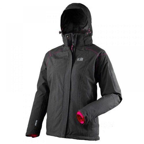 山水網路商城法國MILLET MIV5062 STORM DOWN GORE-TEX兩件式保暖外套內裡羽絨女黑色