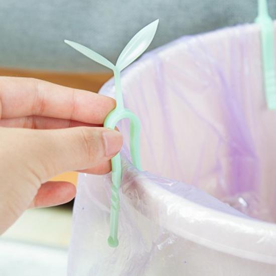 ♚MY COLOR♚ 創意垃圾桶固定夾3入裝 夾子 垃圾袋 桶邊 防滑夾 固定器 塑膠袋【N298】