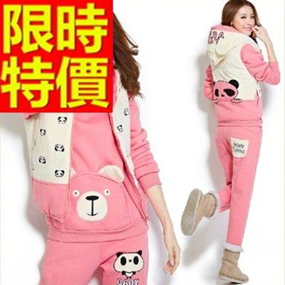 運動服套裝三件式明星同款帥氣-純棉長袖舒適保暖女休閒服5色63s8時尚巴黎