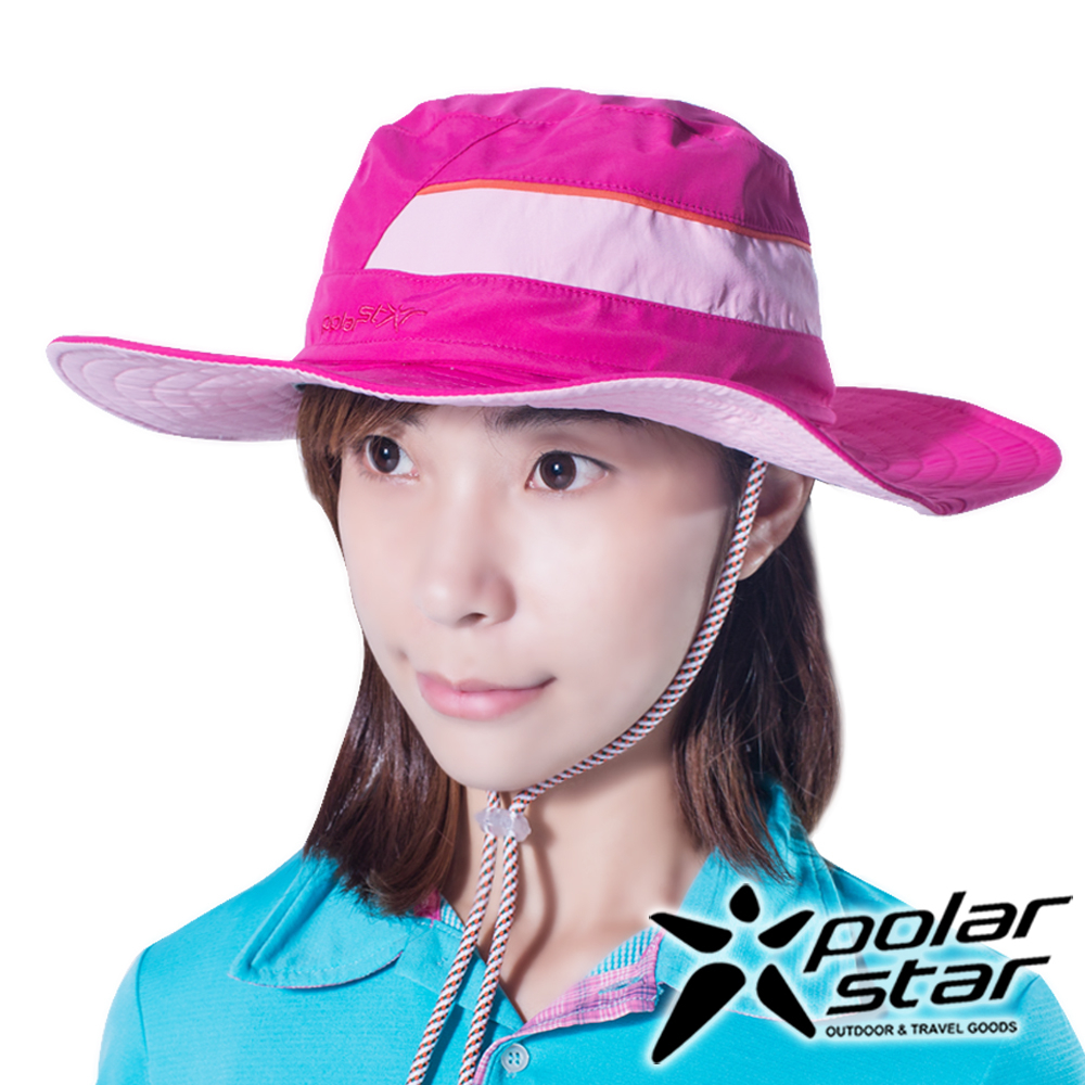 PolarStar圓盤帽牛仔帽玫瑰紅P16516抗UV帽登山帽路跑慢跑帽遮陽帽防曬帽
