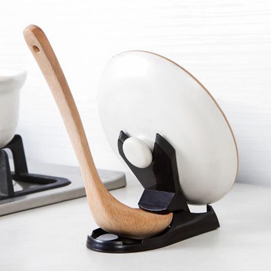 ♚MY COLOR♚多用途折疊式鍋蓋架 湯勺 砧板 菜板 廚房 餐具 料理 湯匙 通風 衛生 乾淨【L132】