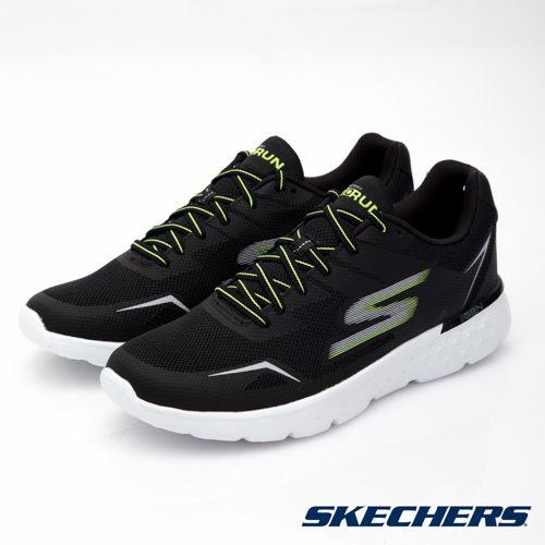 SKECHERS男鞋跑步系列GO Run 400入門輕量慢跑鞋黑x綠54355BKLM