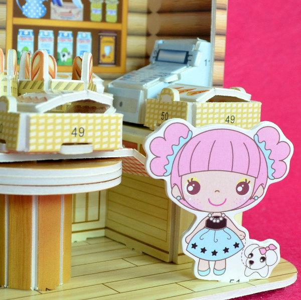 佳廷家庭親子DIY紙模型3D立體勞作立體拼圖專賣店小小實習店長北海道麵包店ZILIPOO智立堡