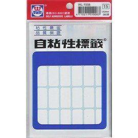 華麗牌 WL-1008自粘性標籤(12x24mm)360張/包