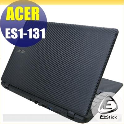 【Ezstick】ACER ES1-131 專用 Carbon黑色立體紋機身貼 (含上蓋、鍵盤週圍) DIY包膜