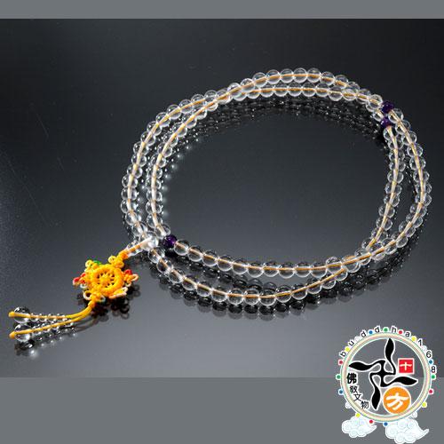 水晶108念珠8mm   【十方佛教文物】